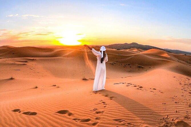 Sunrise in Dubai Desert   Dune Bashing   Camel Farm visit
