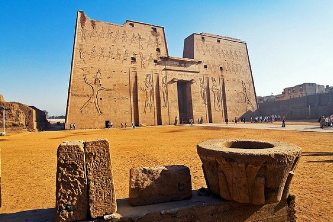 Visit to Edfu temple by train and Luxor west bank, lunch and Felucca