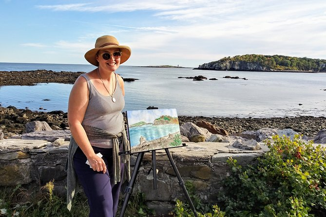 Private Half-Day Painting Adventure in Casco Bay Archipelago