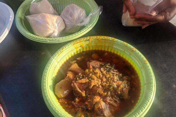 Banku with okra stew