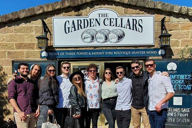 Enjoy a walk through the popular Tunnel of Beer at the Garden Cellars