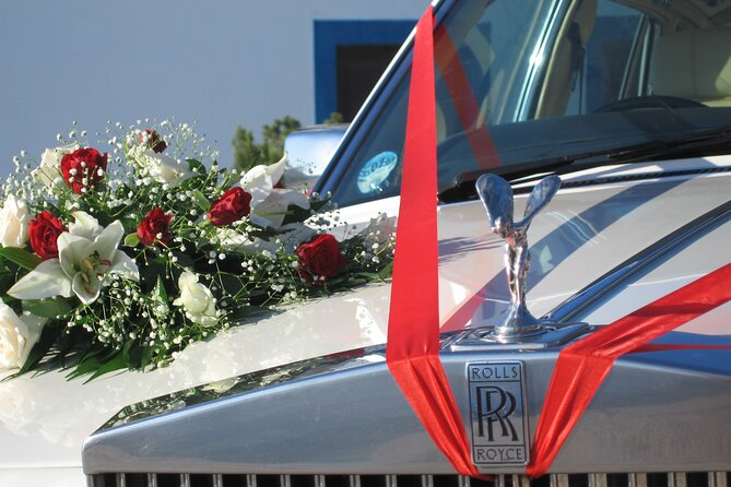 Santorini Unique Wedding Car Service By Rolls Royce Silver Spirit 1982