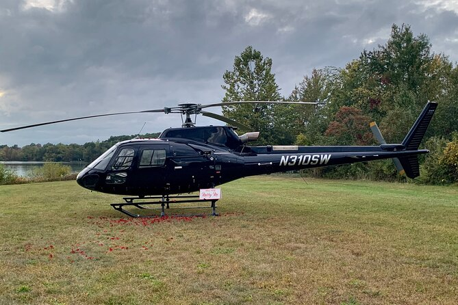 Romantic Lakeside Helicopter Proposal in Upstate New York