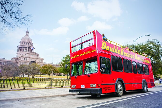 Full-Day Double Decker Austin Hop On Hop Off Sightseeing Tour