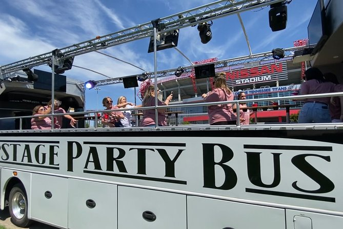 Open-Air Party Bus Tour (Shared Tour) Canvass top & windows to keep you warm!