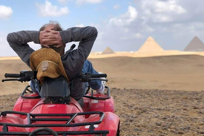 Private-Guided Tour to Giza Pyramids and 60 minute quad bike ATV ride
