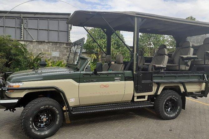 Enjoy 4x4 open jeep safari Nairobi Park
