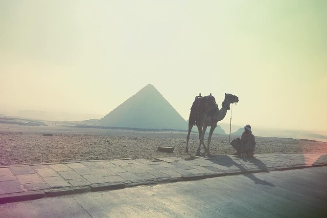 guided tour Giza pyramids ,Sphinx , Solar Boat, Great pyramid and Camel ride