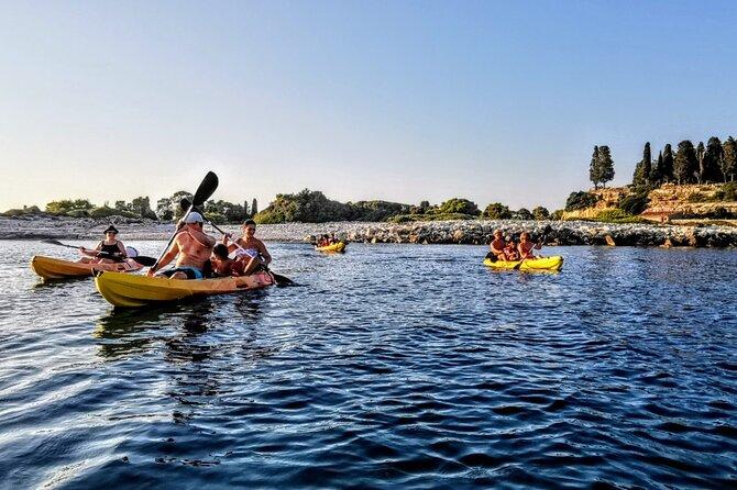 Kayaking to Island Saint Jerolim with snorkeling activitie