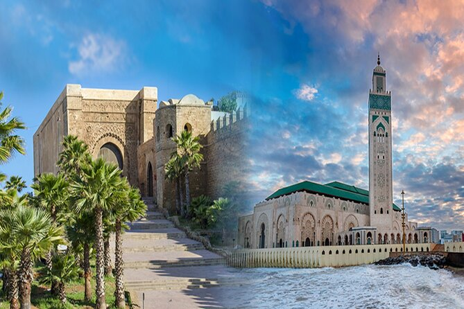 casablanca and rabat in one day including the mosque and lunch and coffee shop