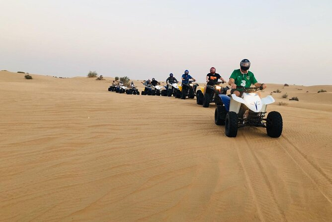 Dubai ATV Quadbike Desert Safari with Camel Ride Sand Boarding