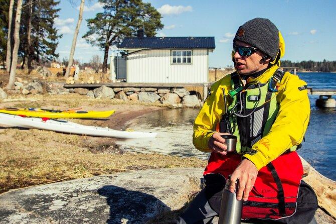 Winter archipelago kayaking