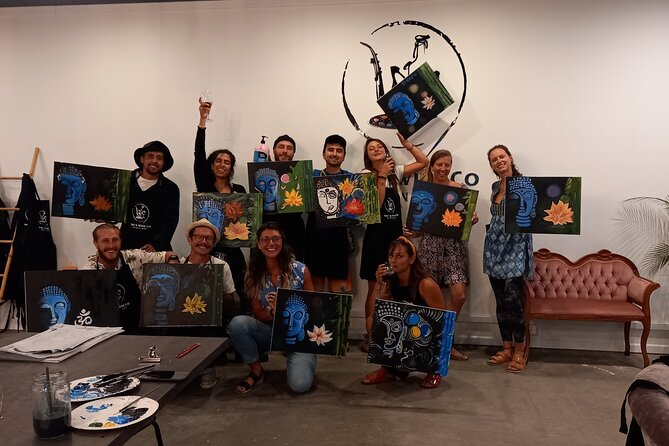 Adults Art and Wine Class in Byron Bay
