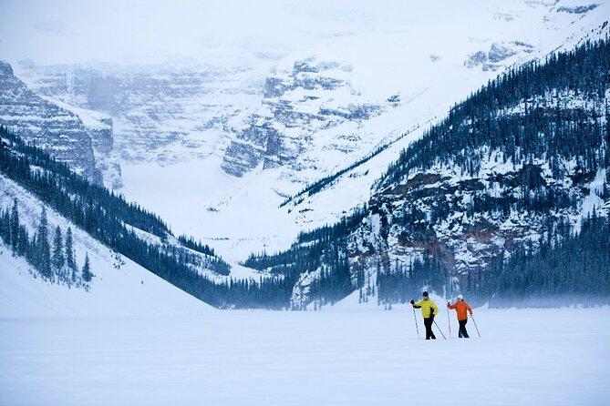 Small Group Snow Activity & Johnson Canyon Winter Fun from Calgary or Banff