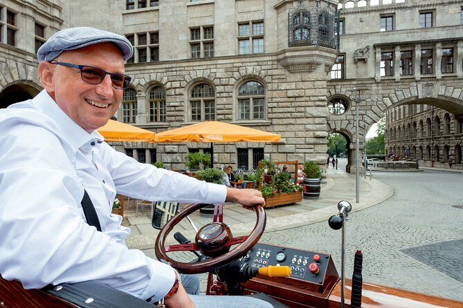 first electrical carriage in town - guided City Tours - Leipzig