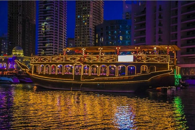 Luxury Romantic Marina Dhow Dinner Cruise in Dubai With international buffet