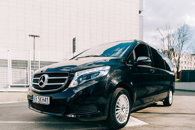 Economy private Warsaw Okecie airport transfer up 3 people