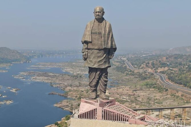 Golden triangle with Statue of unity