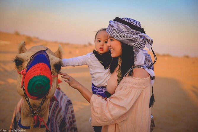 Desert Safari with BBQ Dinner, Sand-boarding and Camel Ride
