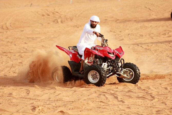 Dubai Desert Safari With BBQ Dinner Camel Ride And Quad Bike