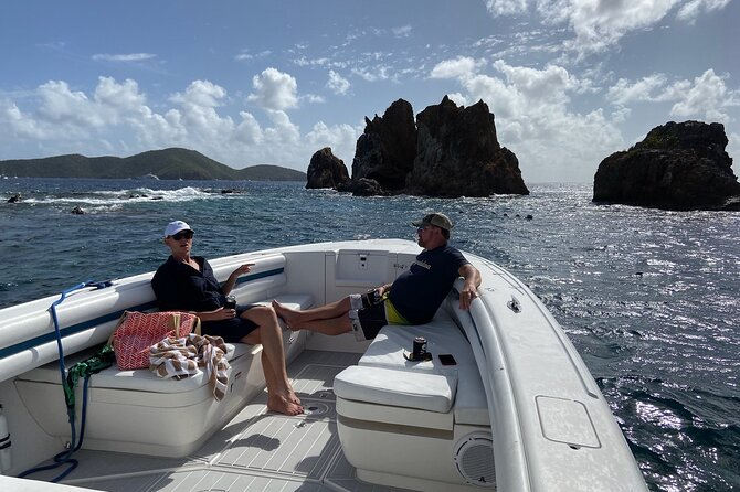 St Thomas Full-Day Boat Rental 37' Intrepid Powerboat