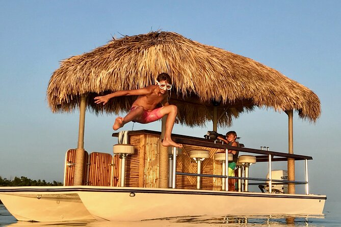 4-Hour Private Sand Bar Cruise on a Tiki Bar Boat in Key West