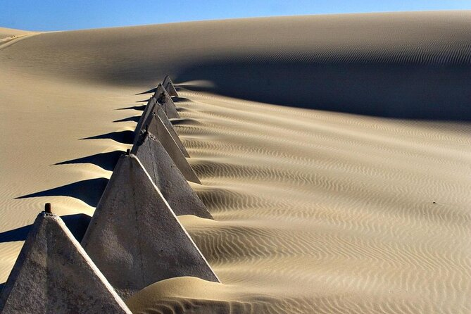 Dunas de arena de la playa de Stockton