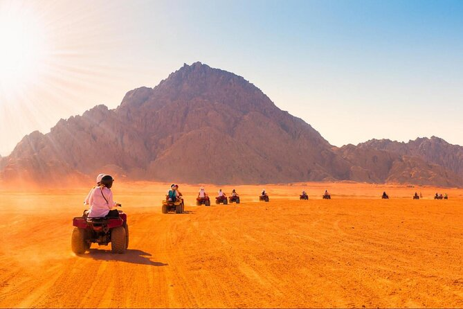Hurghada Desert Quad Safari in small group with dinner and show
