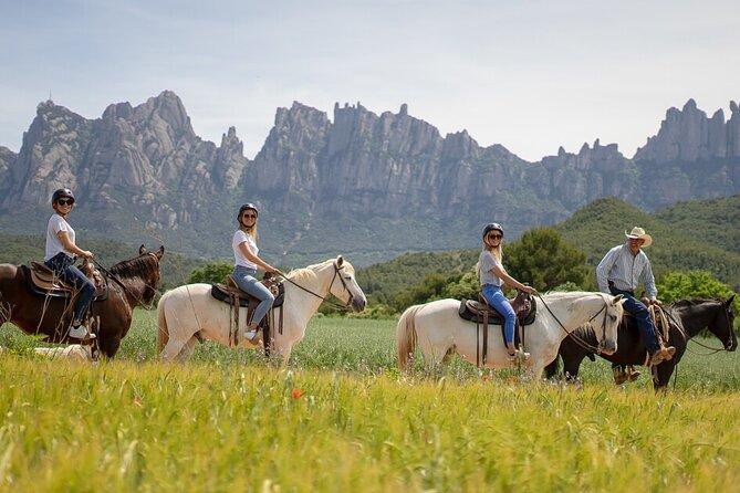 Horseback Riding in Montserrat Mountain Natural Park, Barcelona, Spain.