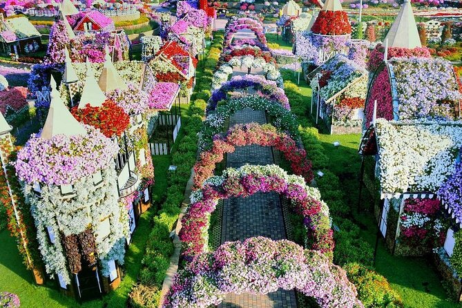 Dubai Miracle Garden Ticket with One-Way Private Transfer
