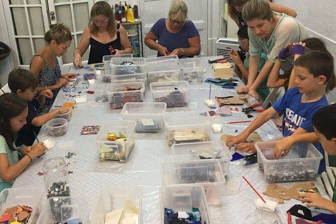 Mosaic class for families in Barcelona for 4 persons