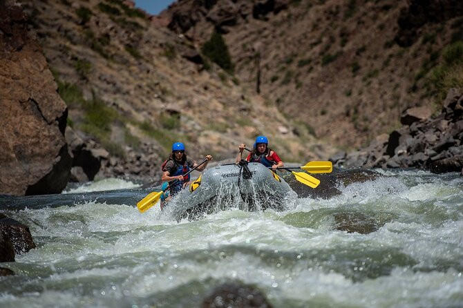 Sunshine Falls in the Royal Gorge at medium flows (July).
