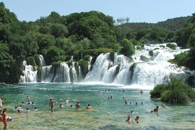 NP Krka Waterfalls Small Group Tour with entry ticket from Split or Trogir