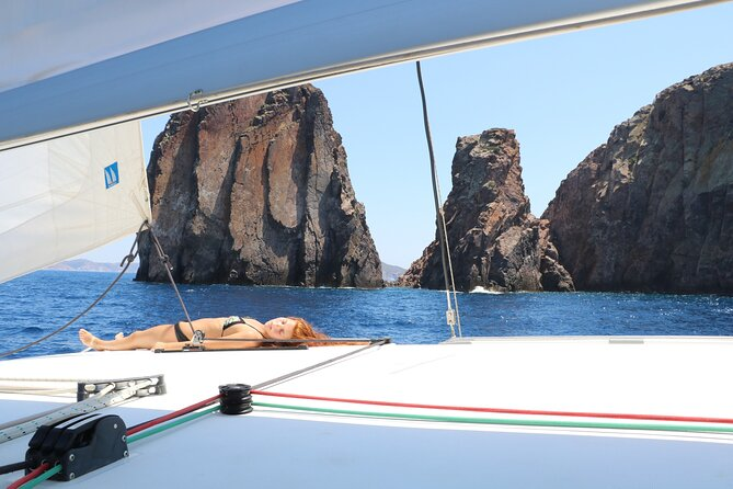 Sailing and relaxing