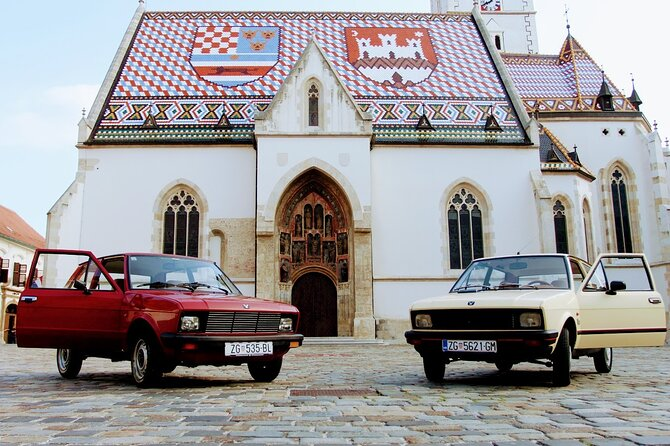 2-hour Private Zagreb City Tour in Old-Timer Yugo car
