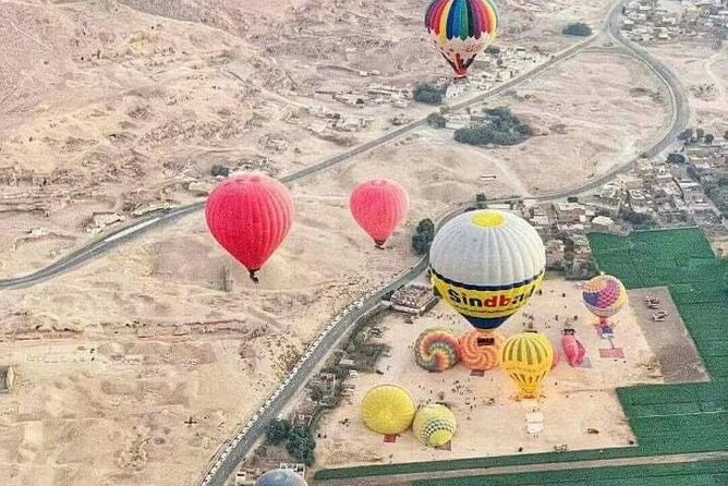 One package Hot air balloon ride & full day tour in luxor