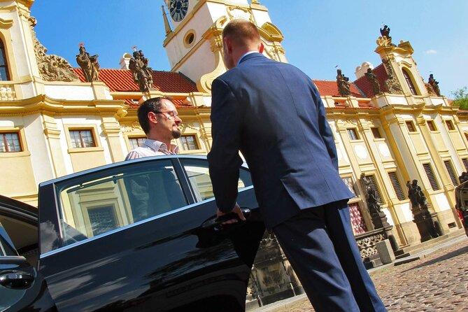 Prague Airport -> Hotel Private Transfer in a Mercedes-Benz