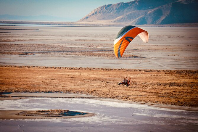 Fly over the Great Salt Lake- Tandem Paramotoring