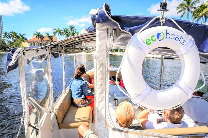 Private 21ft Electric Boat Rental or Tour in Fort Lauderdale with Captain