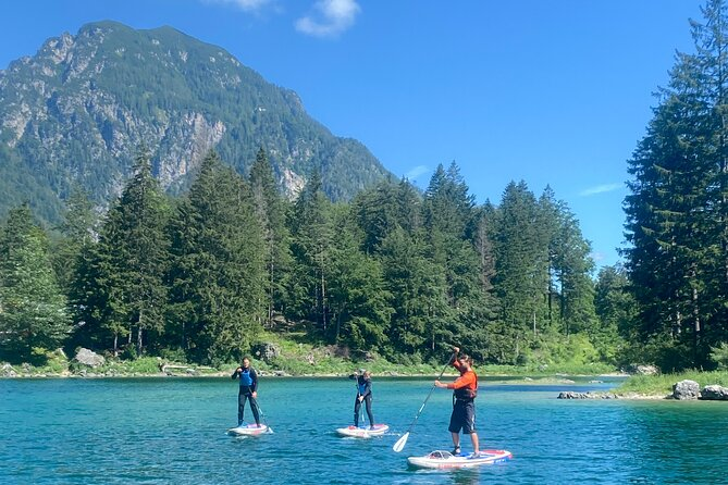 Stand Up Paddle tour on Lake Predil, Bovec SUP