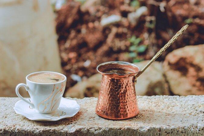 Greek coffee, served in a Briki.
