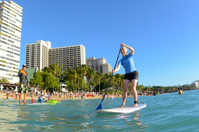 Private Stand-Up Paddle Boarding Lesson on Waikiki Beach