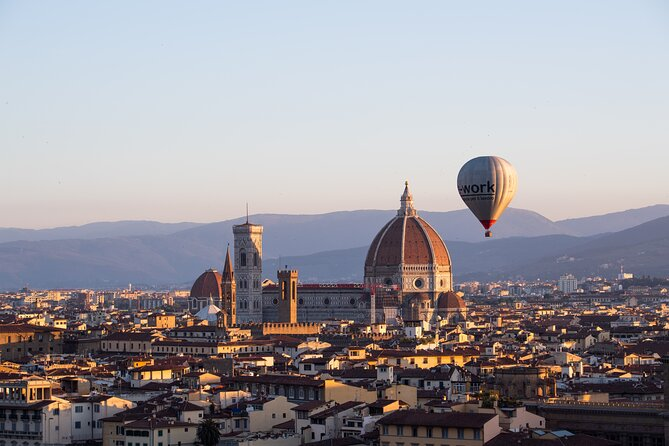 Small Group Hot Air Balloon Trip over Florence with Breakfast