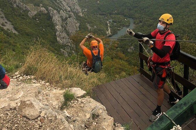 Zipline Croatia: Cetina Canyon Zipline Adventure from Omis