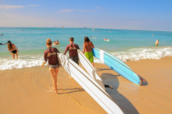 Semi-Private Surf Lesson for 2 or 3 people on Waikiki Beach