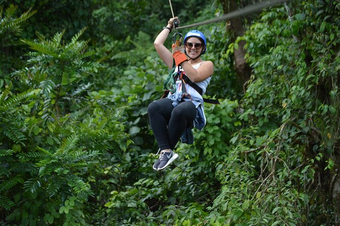 Canopy and Rafting Tour with Organic Farm Lunch from La Fortuna
