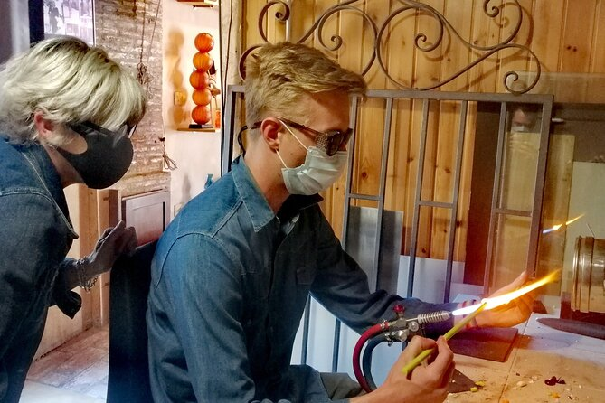 Glass Lampwork workshop and walking tour in Murano: create your own bead!