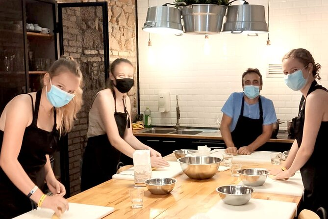 Kitchen of Mamma Pasta Cooking Class in Rome