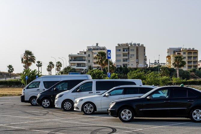 Private Transfer: Larnaca Airport to Protaras with return 1-14 pax