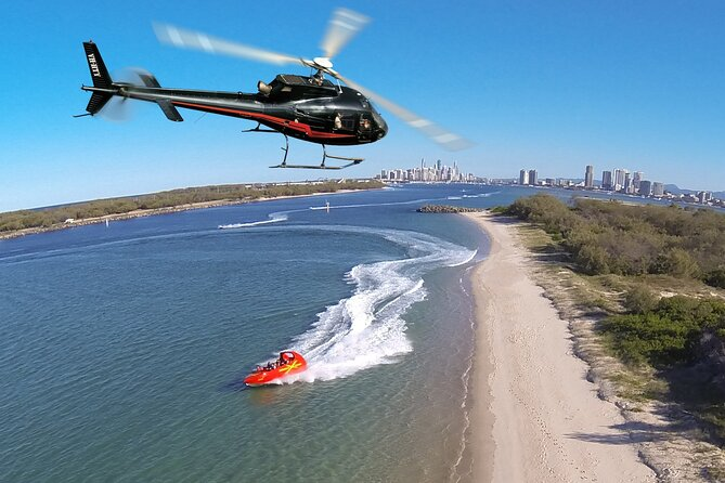 Gold Coast Helicopter 10 min Flight and Jet Boat Ride